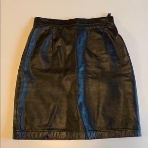 Vintage Genuine Leather Skirt